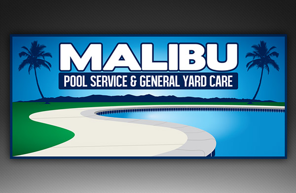 Malibu Pool Services & General Yard Care Logo Design